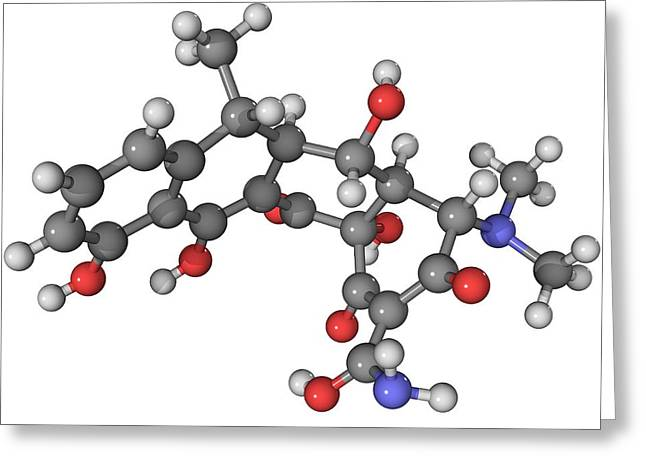 Doxycycline Antibiotic Molecule Greeting Card by Laguna Design