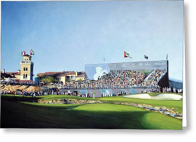 Dp World Tour Championship 2015 - Open Edition Greeting Card by Mark Robinson