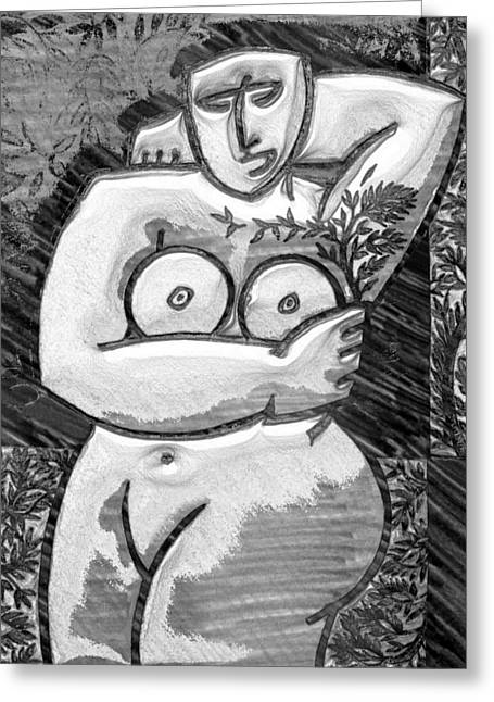 Dp82 Nude Resting #2 Greeting Card