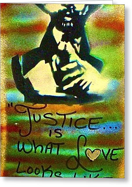 Occupy Greeting Cards - Dr. Cornel West JUSTICE Greeting Card by Tony B Conscious