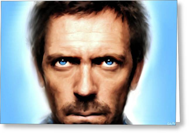 Dr Gregory House  Greeting Card by Enki Art