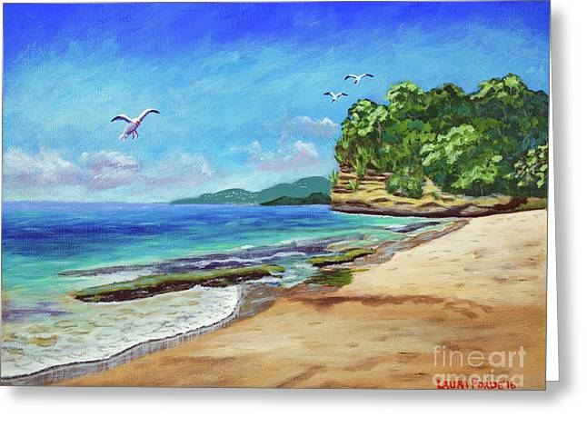 Dr. Grooms Beach, Grenada Greeting Card