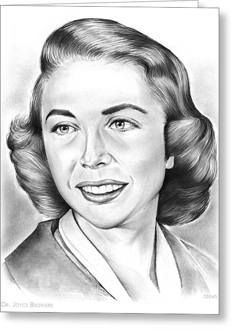 Dr. Joyce Brothers Greeting Card by Greg Joens