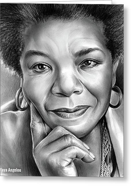 Dr Maya Angelou Greeting Card by Greg Joens