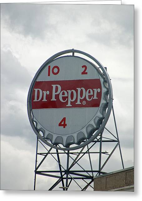 Dr. Pepper Sign - Roanoke Virginia Greeting Card