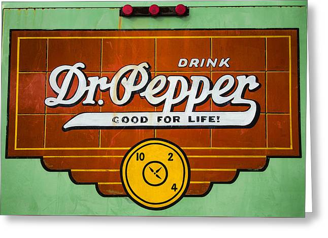 Dr Pepper Truck Sign Greeting Card by Stephen Stookey
