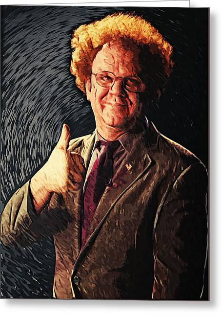 Dr. Steve Brule Greeting Card by Taylan Apukovska