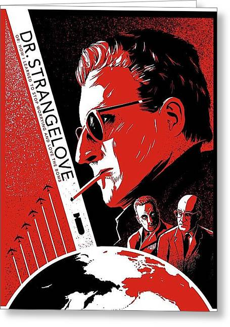 Dr. Strangelove Theatrical Poster Number Three 1964 Greeting Card