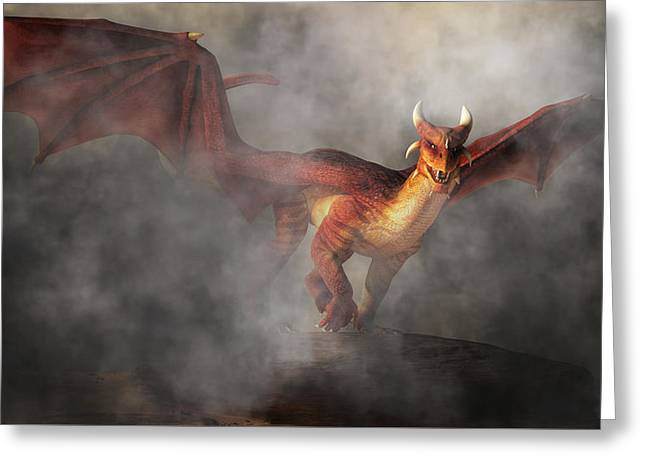 Greeting Card featuring the digital art Draco by Daniel Eskridge