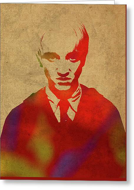 Draco Malfoy From Harry Potter Watercolor Portrait Greeting Card