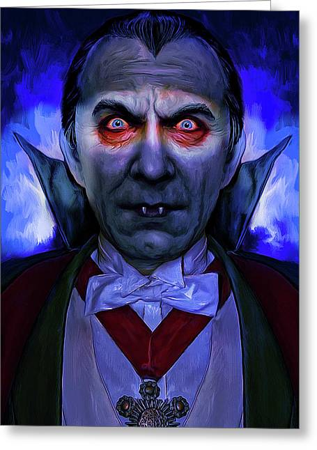 Dracula Mark Spears Monsters Greeting Card by Mark Spears