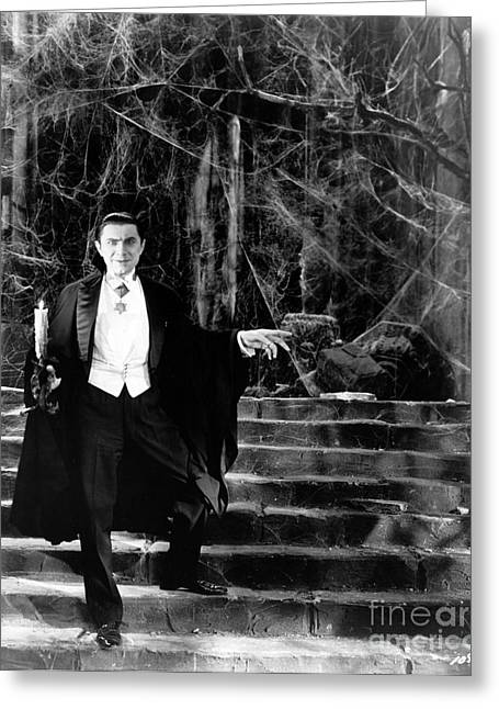 Dracula Greeting Card by R Muirhead Art