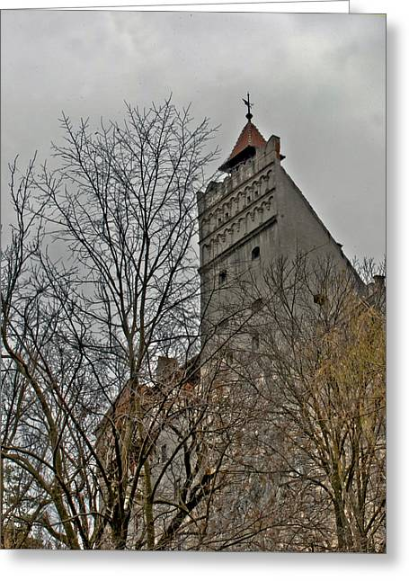 Dracula's Castle Transilvania In Hdr Greeting Card