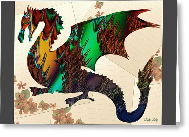 Drago Greeting Card by Kathy Kelly