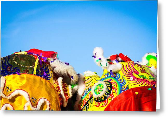 Greeting Card featuring the photograph Dragon Dance by Bobby Villapando