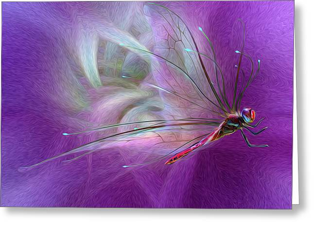 Dragon Fly Greeting Card by Suzanne Williams