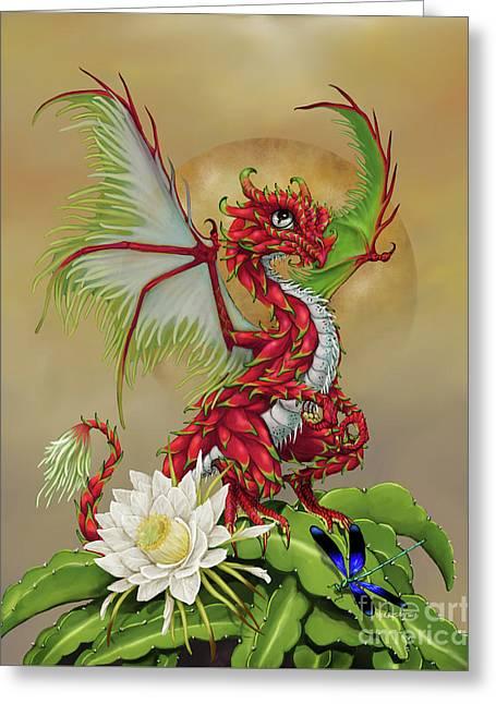 Dragon Fruit Dragon Greeting Card by Stanley Morrison