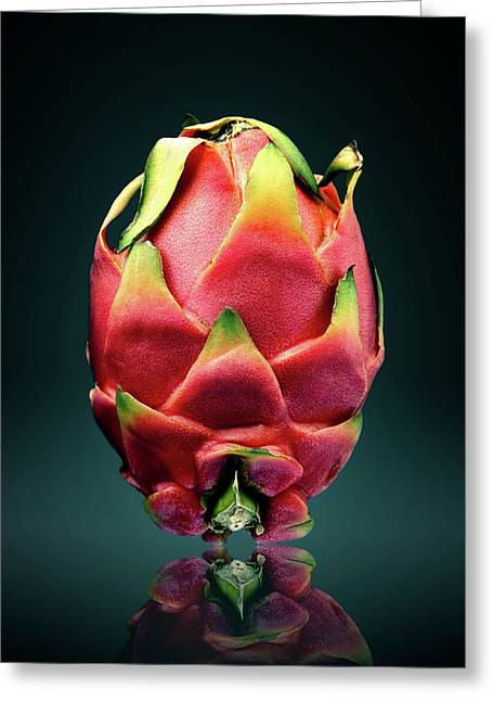 Dragon Fruit Or Pitaya  Greeting Card
