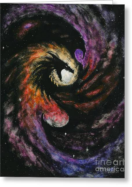Dragon Galaxy Greeting Card