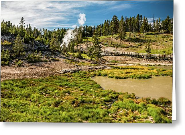 Dragon Geyser At Yellowstone Greeting Card