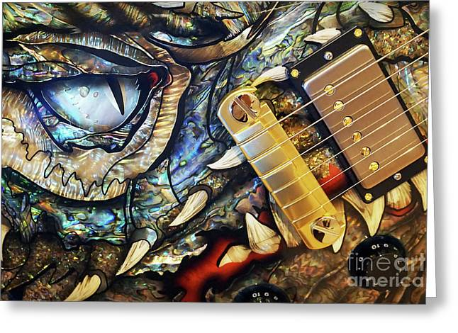 Dragon Guitar Prs Greeting Card