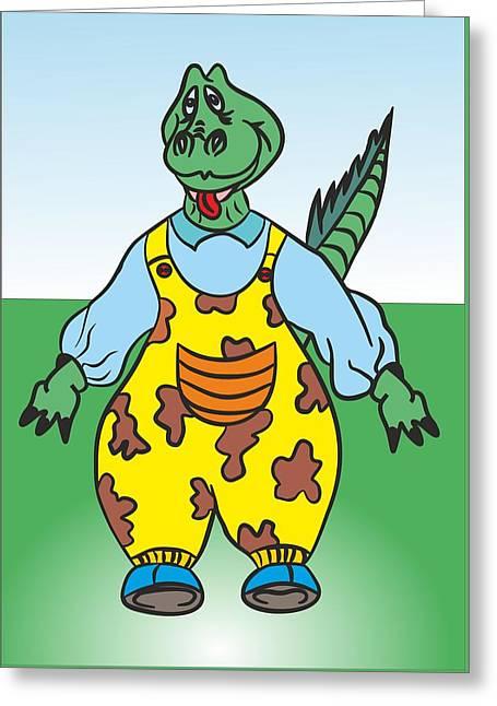 Dragon In Pants Drawing - My Www Vikinek-art.com Greeting Card by Viktor Lebeda