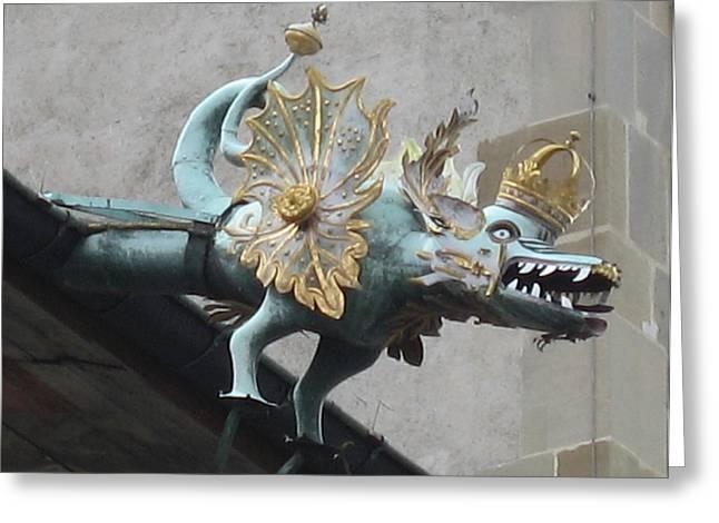 Dragon Greeting Card by James Lukashenko