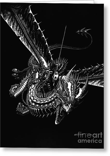 Dragon Knight Greeting Card by Stanley Morrison