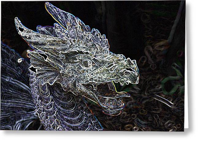 Dragon Lair Greeting Card by Don  Wright