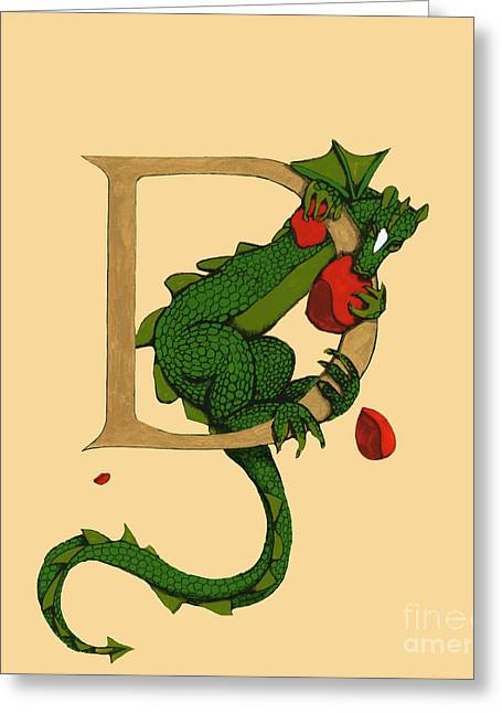 Dragon Letter D 2016 Greeting Card