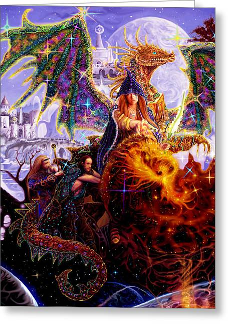 Dragon Master's Apprentice Greeting Card by Steve Roberts
