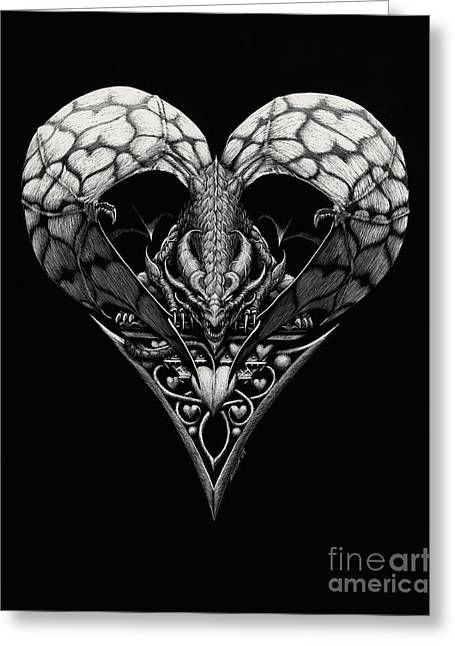 Dragon Of Hearts Greeting Card