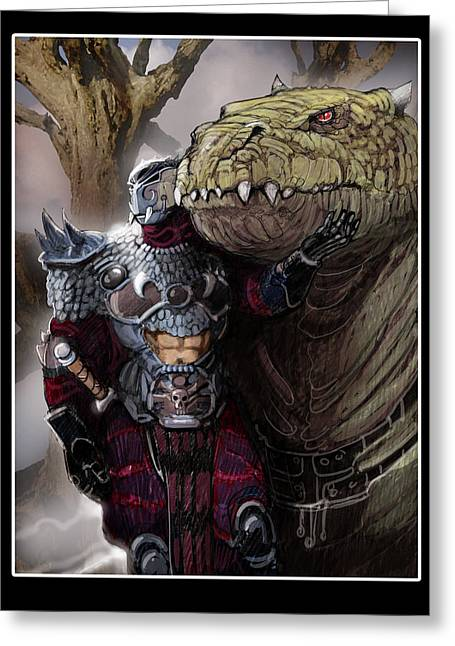 Dragon Rider02 Greeting Card by Roel Wielinga