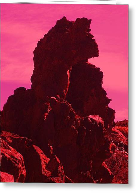 Phantasie Greeting Cards - Dragon-Rock Greeting Card by Ramon Labusch