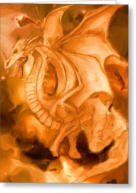 Dragon Greeting Card by Shelley Bain