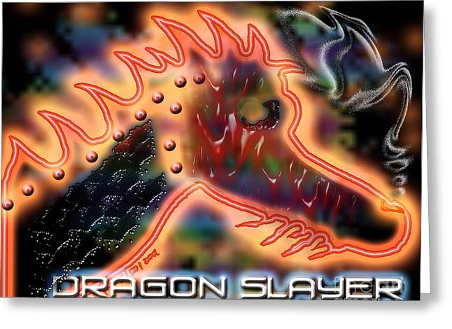 Dragon Slayer Greeting Card by Cheri Doyle