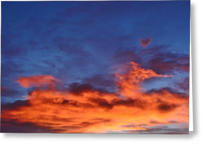 Greeting Card featuring the photograph Dragon Sunrise by Diane Alexander