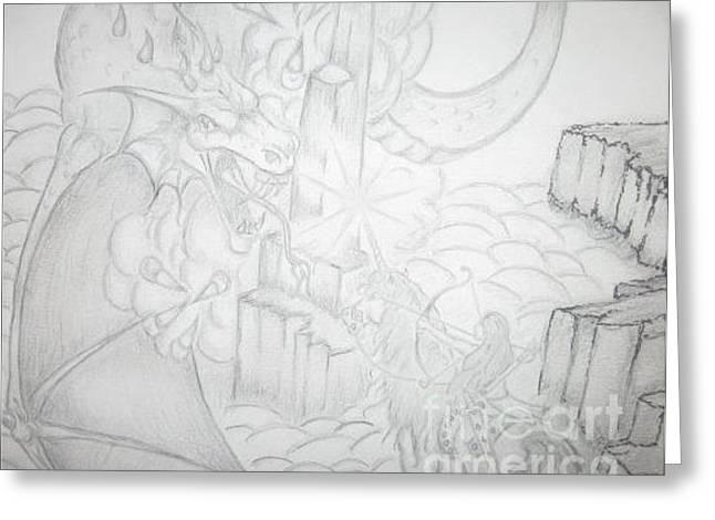Dragon Greeting Card by Thomas Higdon