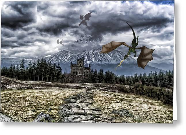 Dragon Trail. Greeting Card by Anastasia Michaels