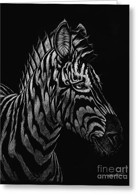 Greeting Card featuring the painting Dragon Zebra by Stanley Morrison
