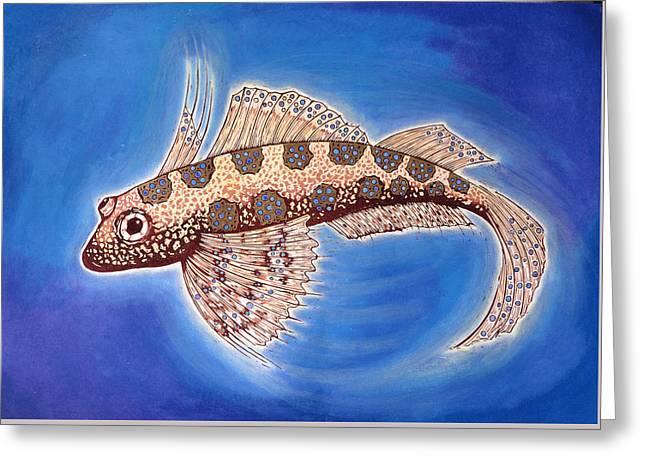 Dragonet Fish Greeting Card by Nat Morley