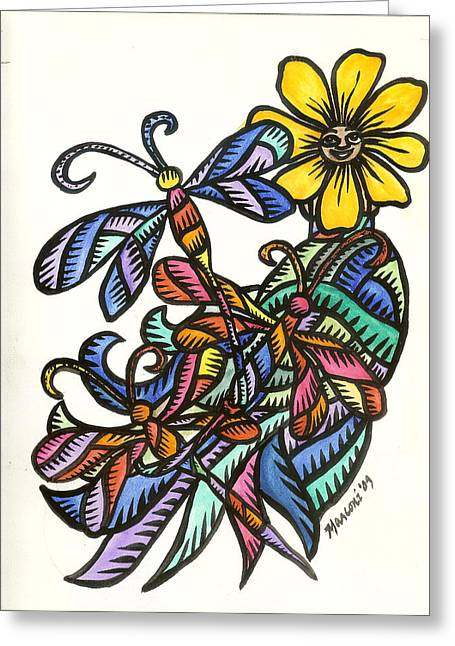 Dragonflies 2009 Greeting Card