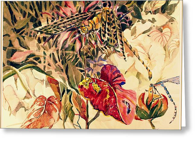 Dragonflies Greeting Card by Mindy Newman