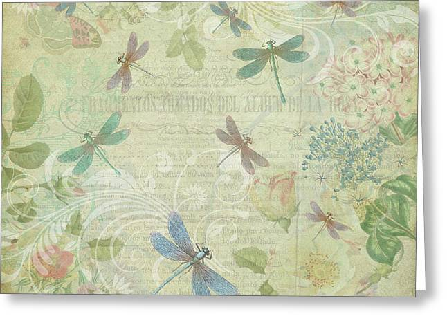 Dragonfly Dream Greeting Card by Peggy Collins