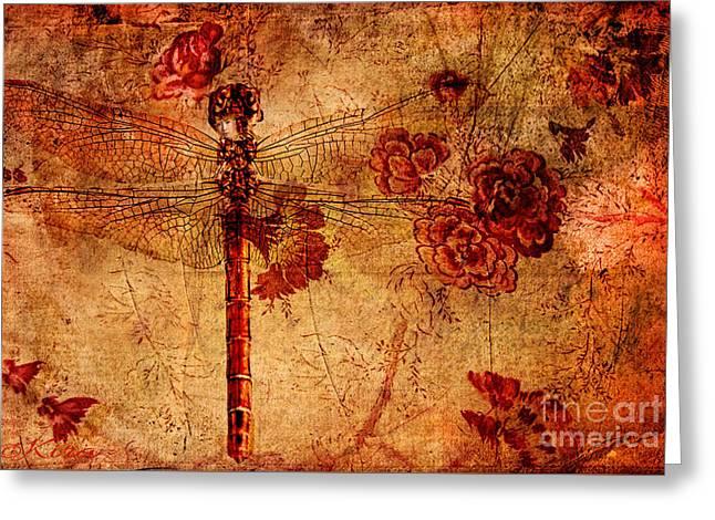 Dragonfly - Geisha Style Greeting Card