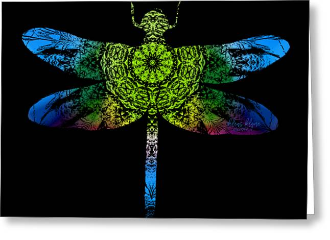 Dragonfly Kaleidoscope Greeting Card
