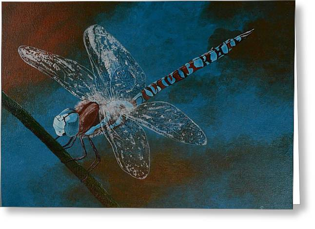 Dragonfly Greeting Card by Roberta Landers