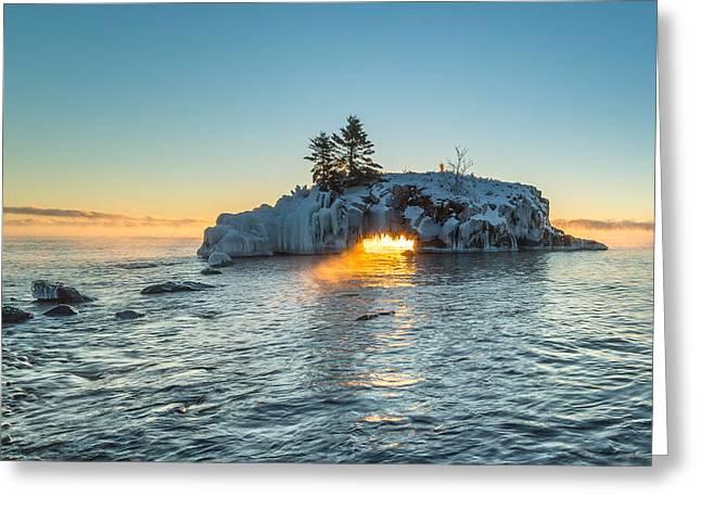 Dragon's Breath  // North Shore, Lake Superior Greeting Card