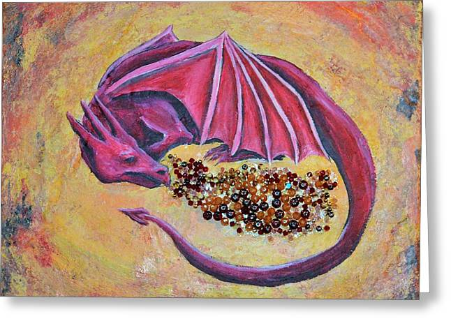 Dragon's Treasure Greeting Card