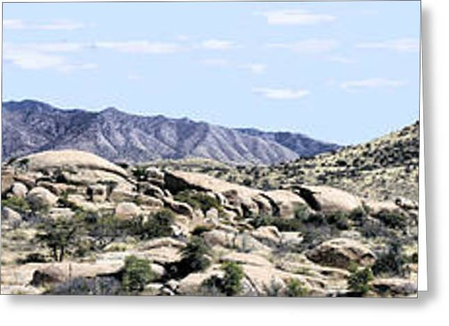 Dragoon Mountains Panorama Greeting Card by Sharon Broucek